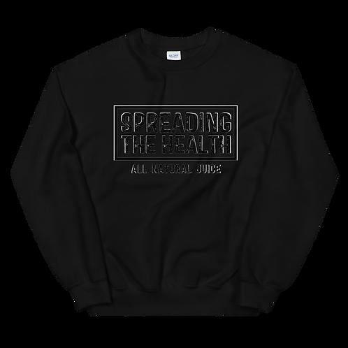 Black on black crew neck LOGO sweatshirt