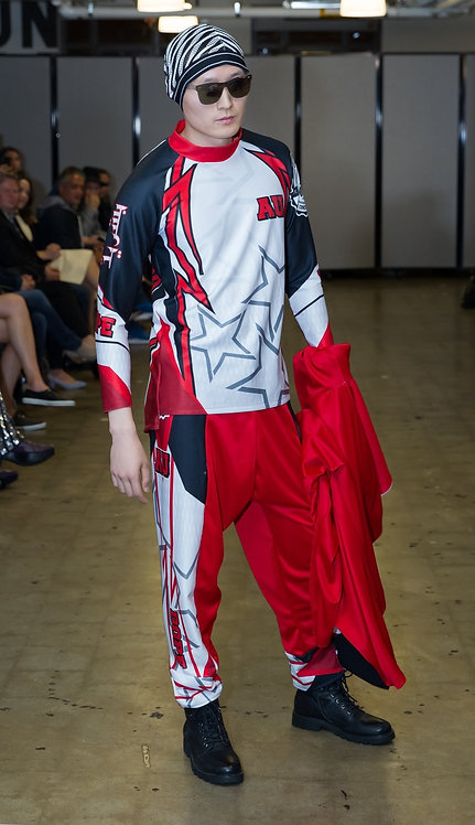 Motorsport 2PC Red Infrathermic Suit
