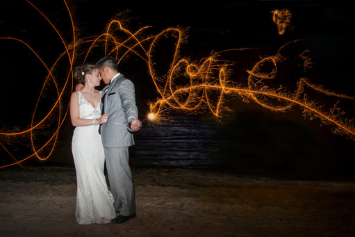 sparkler wedding photography
