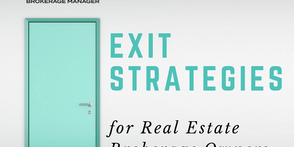 Exit Strategies for Real Estate Brokerage Owners Webinar