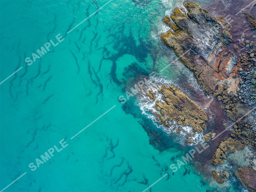 Vertical Rocky Coastline Aerial