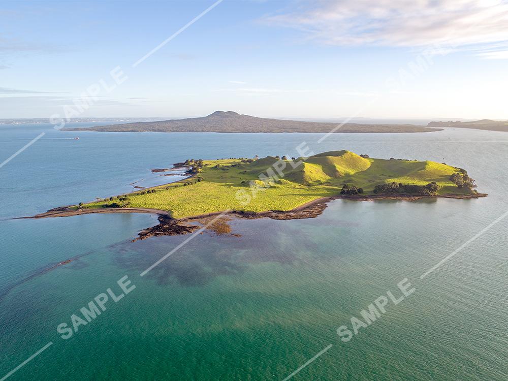 Browns Island, Hauraki Gulf Aerial
