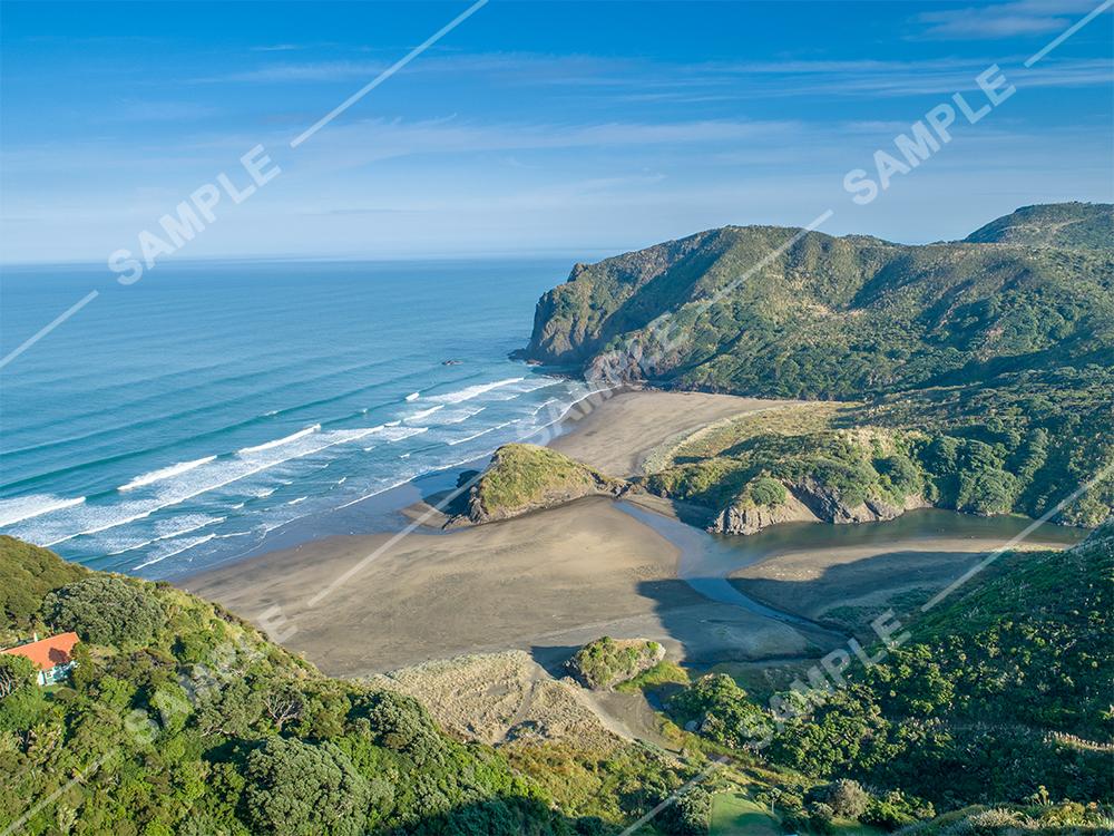 Anawhata Beach Drone Aerial