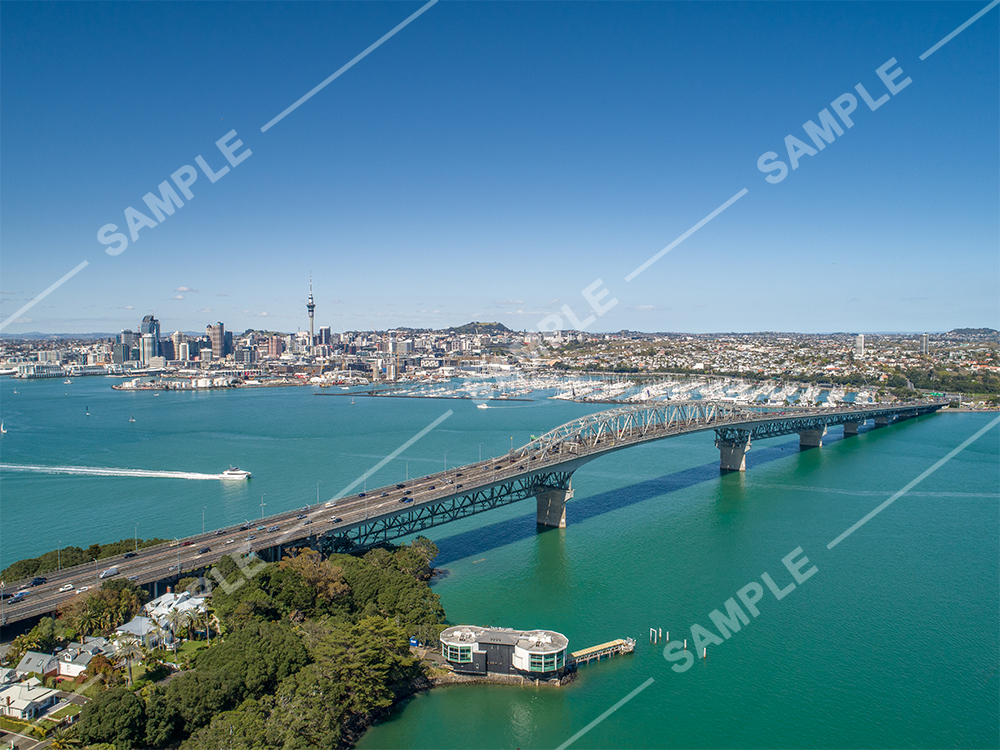 Auckland Harbour Bridge Drone