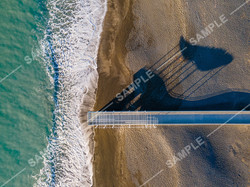 Napier Beach Pier Drone Aerial Photograph