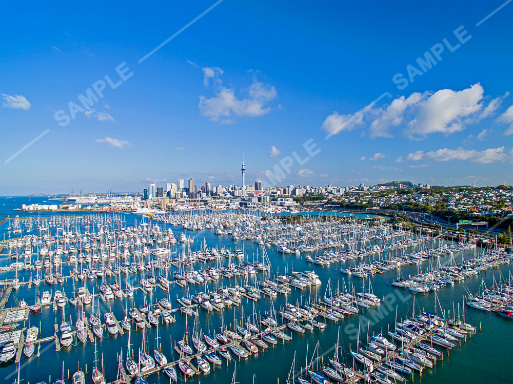 Westhaven Marina Drone Aerial