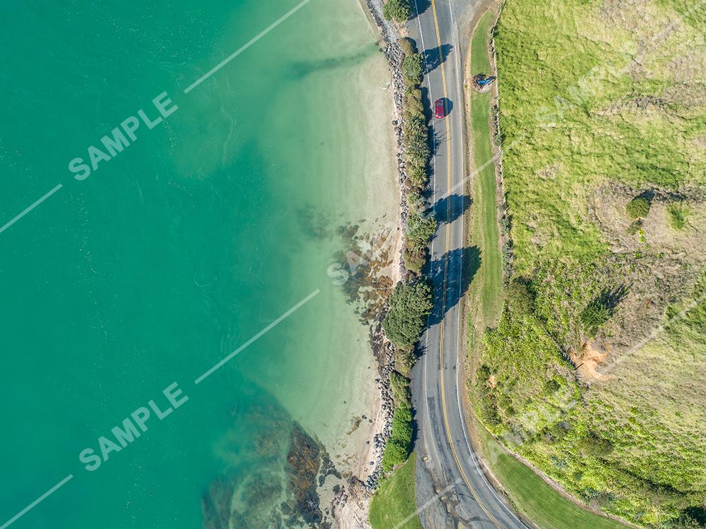 Pohutukawa Coast Drive Aerial