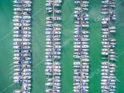Marina Boats Drone Aerial