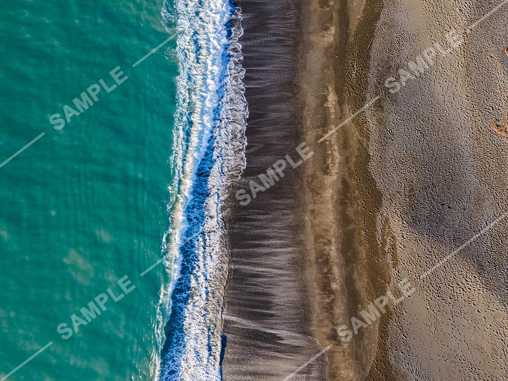 Black Sand Beach Napier Beach Pier Drone Aerial Photograph
