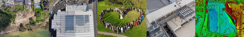 heart shape crowd drone photo