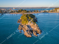 Moturiki Island (Leisure Island) Drone Aerial Photograph