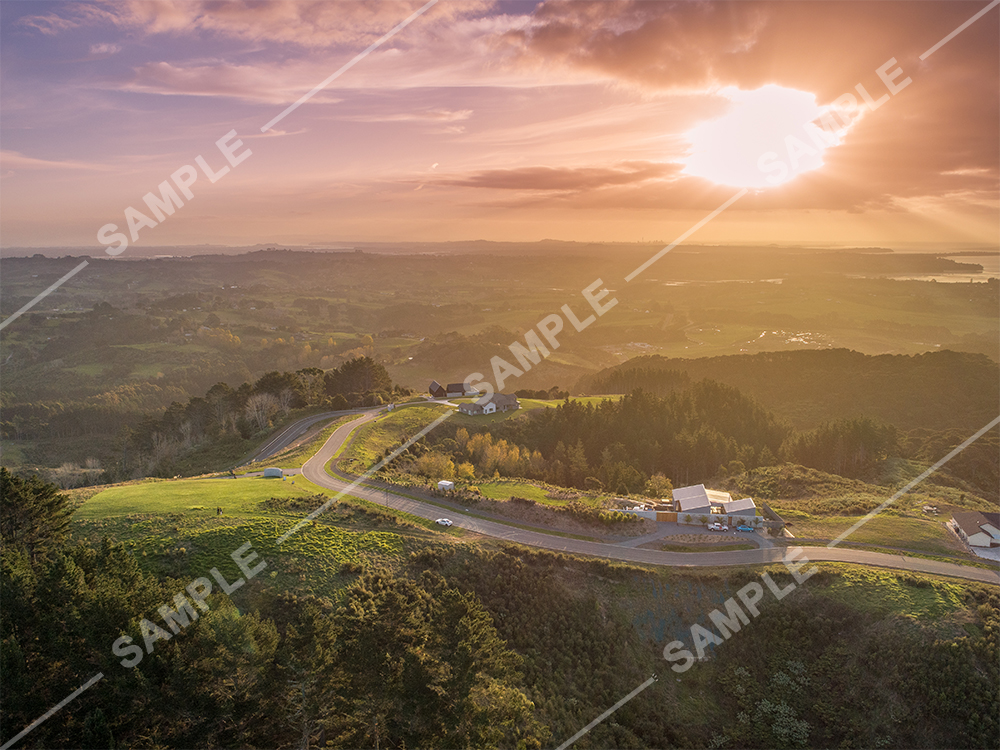 Whitford Sunset Aerial