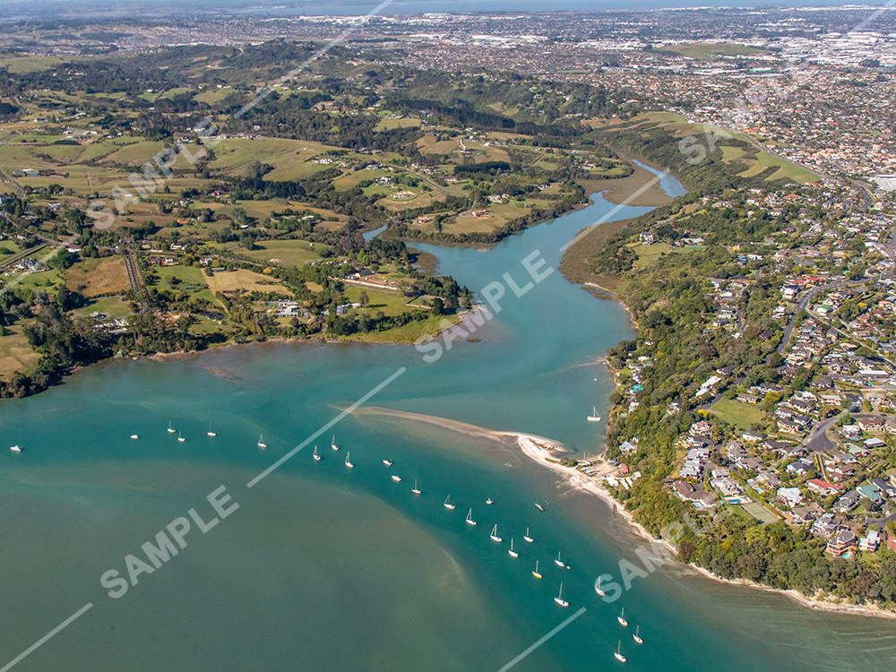 Whitford Creek Auckland Aerial