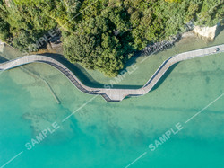 Bucklands Beach Boardwalk Aerial