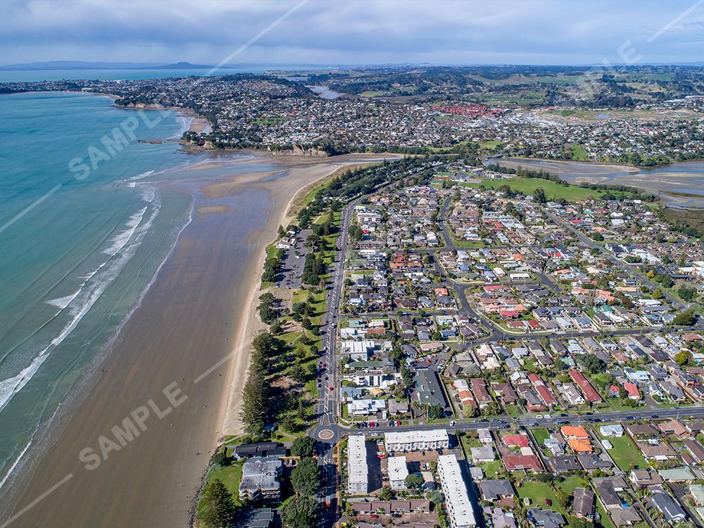 Orewa Beach Aerial
