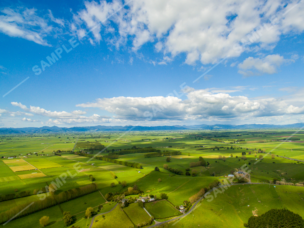 New Zealand Countryside Aerial