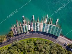 Ngapipi Boatsheds Drone Aerial Photograph