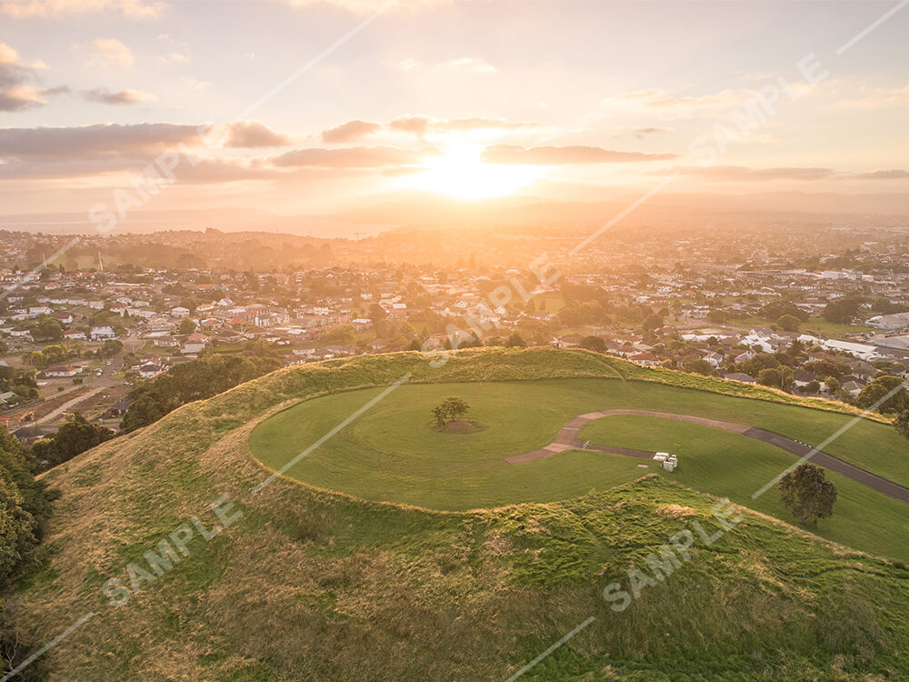 Mount Roskill Golden Hour Aerial