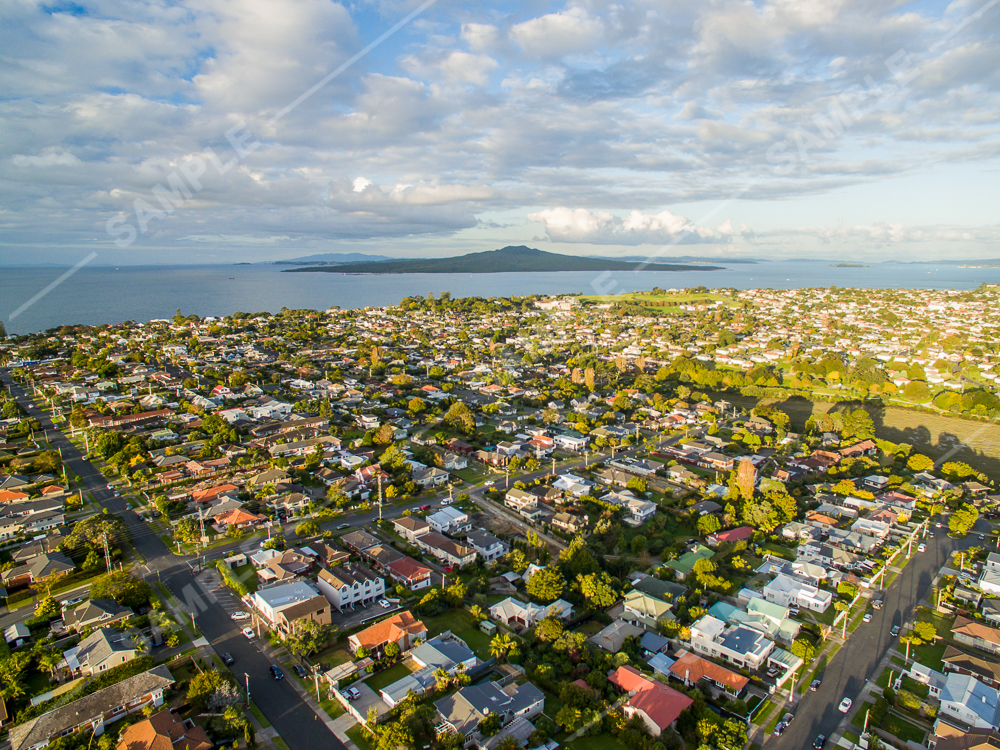 North Shore Rangitoto Aerial
