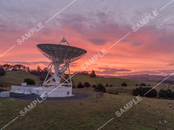 Warkworth Satellite Station Sunset