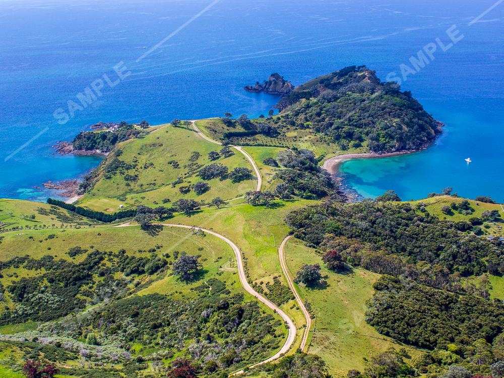 Waiheke Island Coastal Aerial