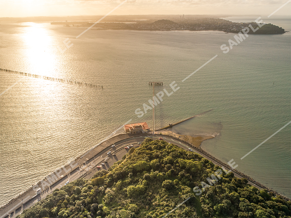 Okahu Bay Wharf Aerial
