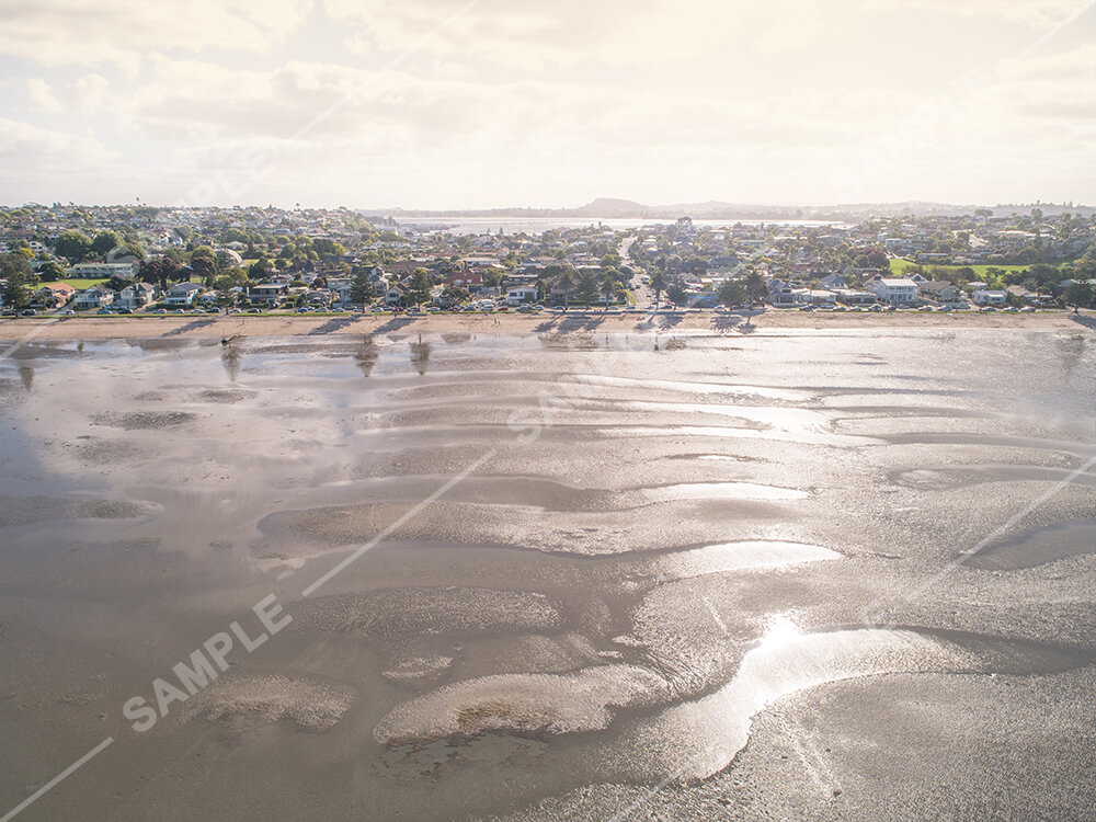Eastern Beach Golden Hour Aerial