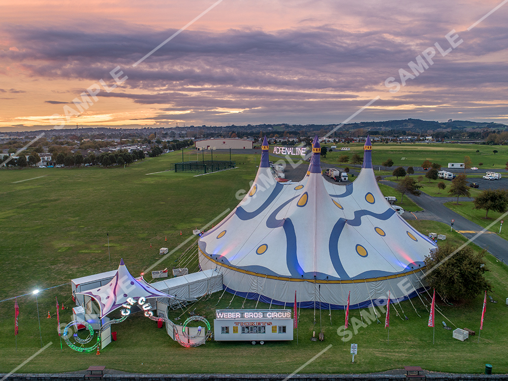 Weber Brothers Circus Tent Aerial