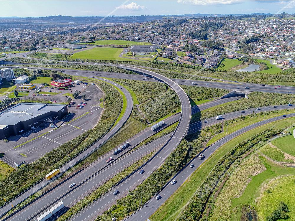 Auckland Motorway Interchange Aerial