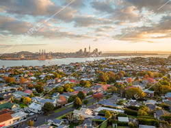 Auckland City from Devonport Drone Aerial Photograph