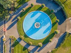 Napier Art Deco Town Centre Napier Beach Pier Drone Aerial Photograph