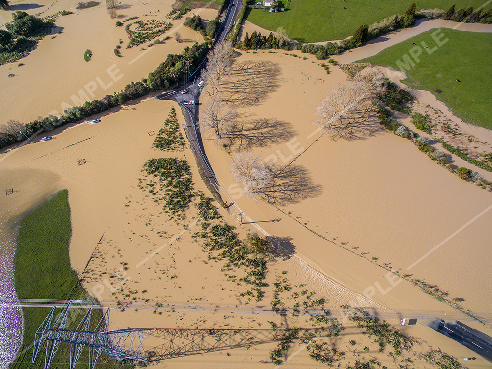 Clevedon Flooding Aerial