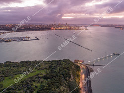 Waitemata Harbour Twilight Aerial