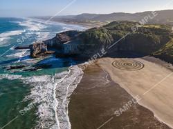 Murawai Sand Art Drone Aerial Photograph
