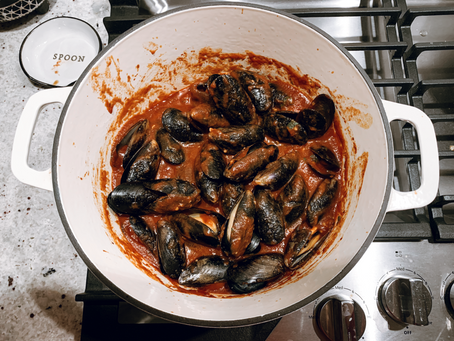 Mussels + Red Dirt Sauce