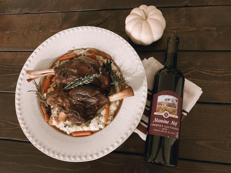 Wine Braised Lamb Shanks