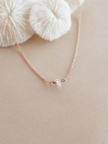 Petite Herkimer Diamond necklace