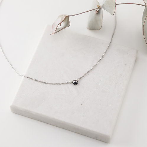 Petite Rose Cut Black Diamond Necklace