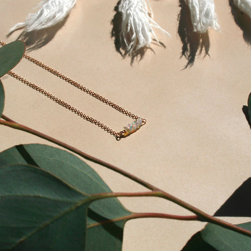 Dainty Opal Necklace