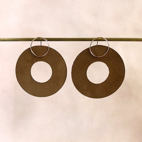 Large Leather Hoops