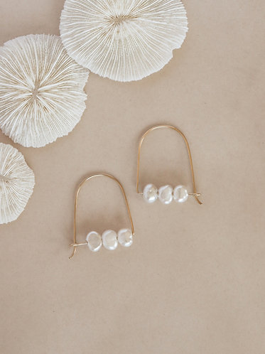 Arch Hoops - Freshwater Pearls