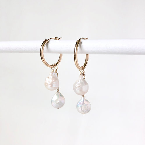 Hoops with Interchangeable Pearl Drops