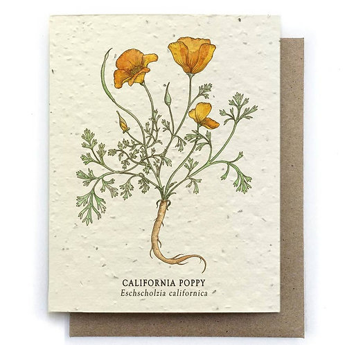 California Poppy - Plantable Card