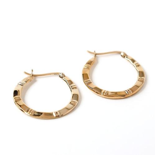 Gold Vermeil Textured Hoops