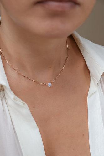 Petite Moonstone Necklace