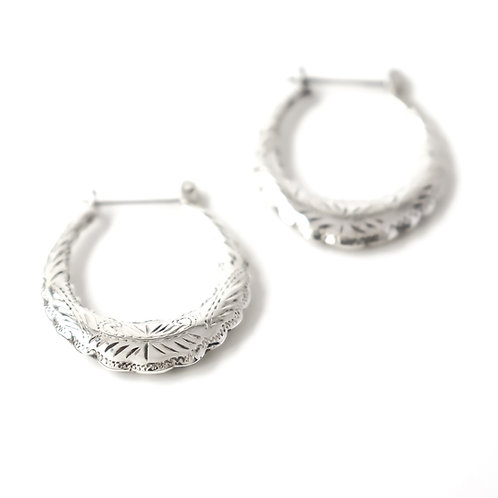 Small Engraved Hoops