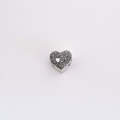 "Charm Cuore Love My Stories Compatibile "" Personalizzabile """