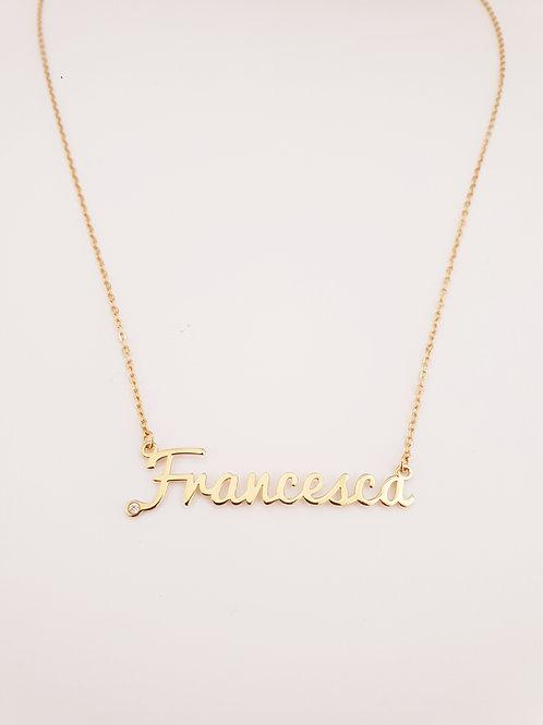 """Collana Nome o Frase in Oro """"Personalizzabile"""""""
