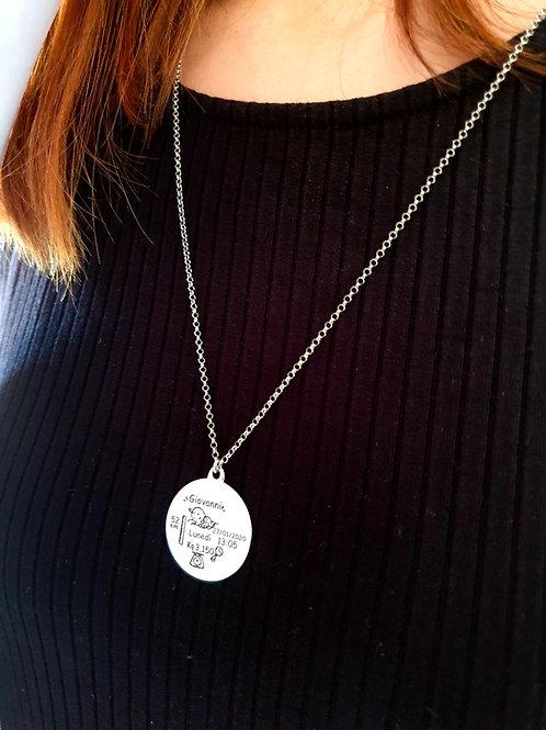 """Collana Argento 925 Nascita """"Personalizzabile"""""""