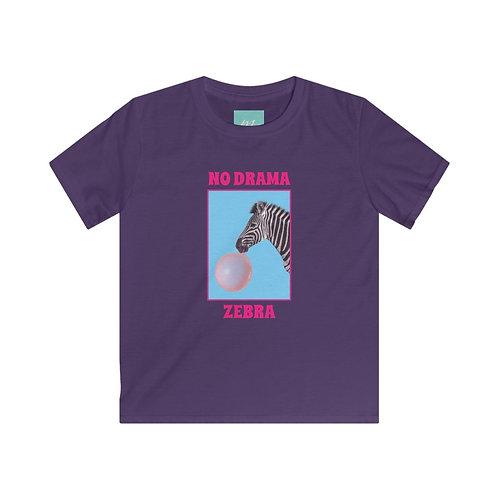 No Drama Zebra T-Shirt Bambina